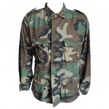 Dutch Marines VN Patched Woodland BDU Shirt